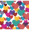 background valentines day with hearts vector image