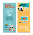 online shopping vertical flyers design vector image
