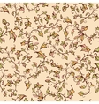 seamless floral pattern with leaves and vector image