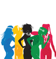 girls are different sides of the world vector image