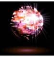 Party lights disco ball vector image
