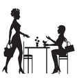meeting in a cafe vector image