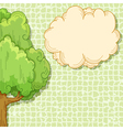 abstract cartoon tree vector image vector image