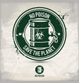 alternative no poison stamp vector image vector image