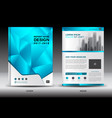annual report brochure flyer template layout vector image vector image