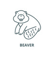 beaver line icon linear concept outline vector image vector image
