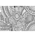 boho doodle pattern for coloring book for adults vector image vector image