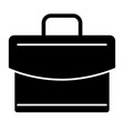 briefcase solid icon case vector image vector image