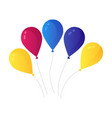 bunch air balloons group ball with ribbon vector image vector image