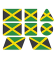buttons with flag of Jamaica vector image vector image
