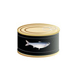canned fish vector image