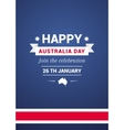 Card on holiday Australia Day vector image