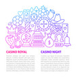 casino line template vector image