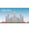Cibeles Palace Madrid Spain vector image