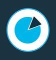 circle graph icon colored symbol premium quality vector image