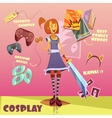 Cosplay Character vector image vector image