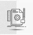 creative design develop feedback support line vector image vector image
