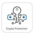 crypto protection icon vector image vector image