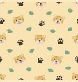 cute animals cartoon tigers seamless pattern for vector image