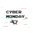 cyber monday white label or advertising tag with vector image vector image