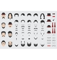 Different design elements of men face vector image vector image