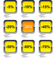 Discount balloon icons vector image