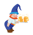 dwarf and a tray with a beer vector image vector image