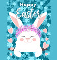 easter bunny happy easter vector image