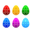 easter eggs of the puzzle vector image vector image