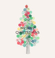 elegant christmas tree with pastel colored vector image