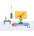 flat set of fitness woman Yoga classes vector image vector image