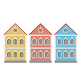 flat style house two-storey colored old european vector image