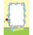 floral child frame vector image