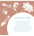Floral romantic card with white silhouettes of vector image vector image