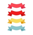 four color ribbon patterns vector image vector image