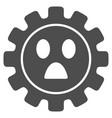 gear wonder smiley flat icon vector image