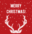 geometric deer horns merry christmas greeting vector image