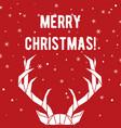 geometric deer horns merry christmas greeting vector image