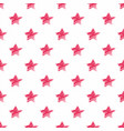 hand drawn red stars seamless pattern vector image