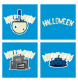 happy halloween design elements halloween design vector image vector image
