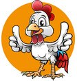 happy rooster mascot vector image vector image