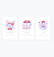 healthcare concept - line design style banners set vector image