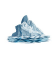 iceberg from a splash watercolor colored vector image