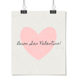 italian st valentines day poster vintage design vector image vector image