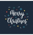 Merry Christmas handwritten lettering inscription vector image vector image
