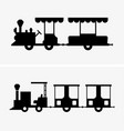 mini train vector image vector image