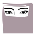 Muslim woman in niqab arabian girl portrait