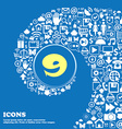 number Nine icon sign Nice set of beautiful icons vector image vector image