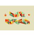 Origami coffee love concept vector image