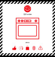 oven linear icon vector image vector image